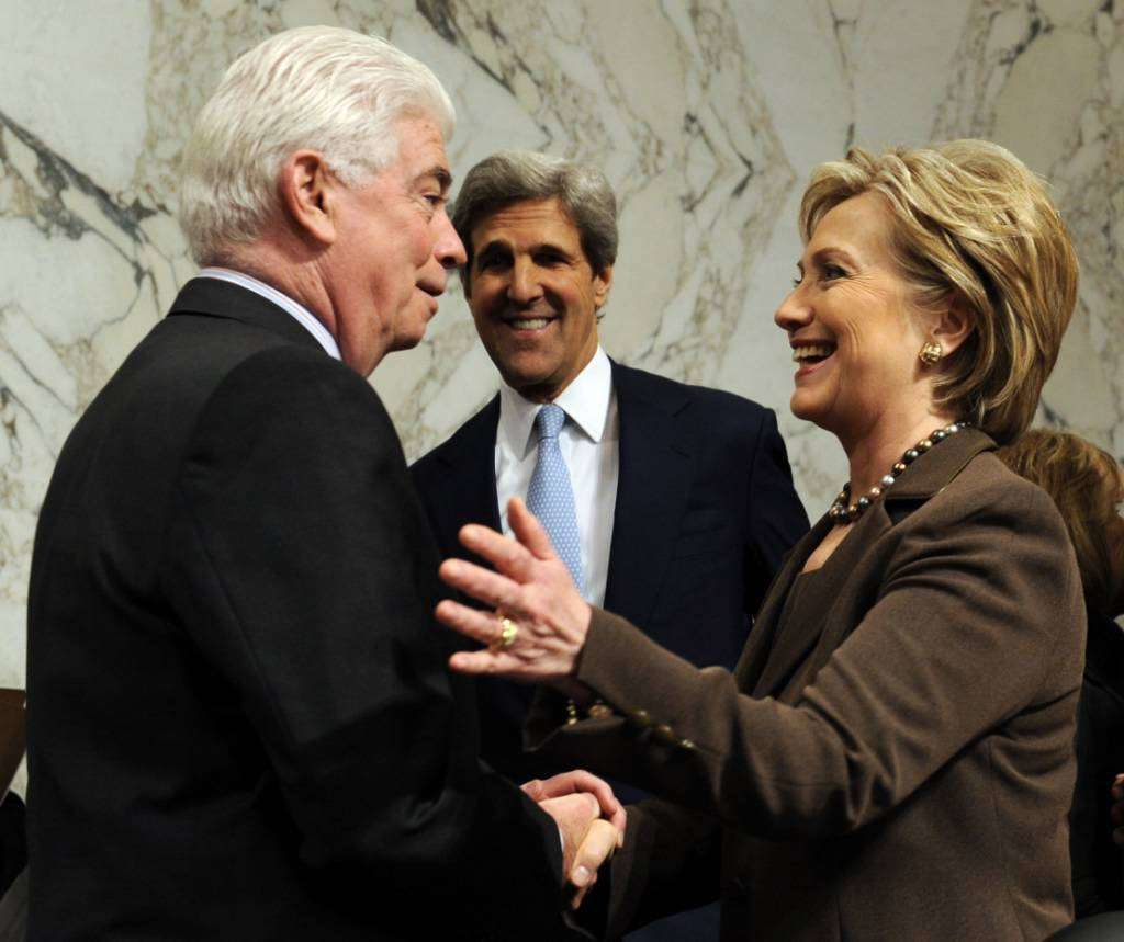 Chris Dodd and Hillary Clinton